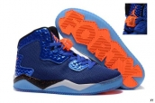 Jordan Air Spike 40 Blue Black Orange