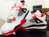 Perfect Air Jordan 4 Laser White Red Black 180