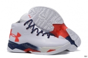 Ua Curry III White Blue Red