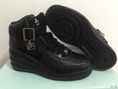 Nike Air Force 1 High Women In Elevator Shoes Snake Black