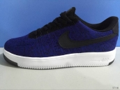 Nike Air Force 1 Flyknit Low Women Blue Black White