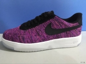 Nike Air Force 1 Flyknit Low Women Purple Black White