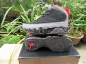 Air Jordan 9 AAA Black Dark Grey Red