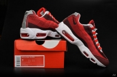 Nike Air Max 95 Jacquard Red White Wine Red