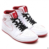 Air Jordan 1 AAA Women White Red Black