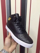 Perfect Women Air Jordan 1 Black White Golden