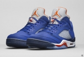 AAA Air Jordan 5 Low Royal Blue Grey White Orange