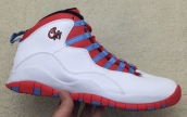 Air Jordan 10 AAA City White Red Blue