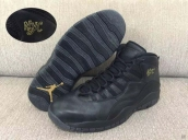 Air Jordan 10 AAA City Black Golden