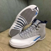 Air Jordan 12 AAA Grey White Blue