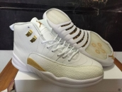 Air Jordan 12 AAA Oreo White Golden