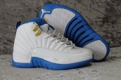 Air Jordan 12 Women French Blue White