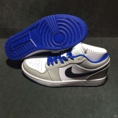 Air Jordan 1 AAA Low White Grey Blue