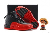 Air Jordan 12 Kid Leather Black Red