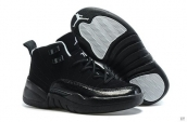 Air Jordan 12 Kid Suede Black White