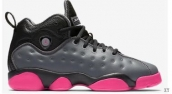 AAA Air Jordan 13 Women Black Dark Grey Pink
