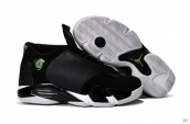 Air Jordan 14 Black White Green