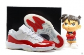 Air Jordan 11 Low AAA White Red