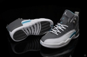 Air Jordan 12 AAA Dark Grey White Blue