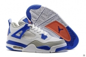 Air Jordan 4 White Blue Grey