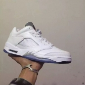 Perfect Air Jordan 5 Low Women White Silvery 200