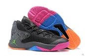 Jordan Melo M12 Black Pink Green Orange