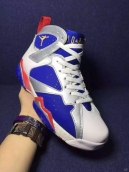 Perfect Air Jordan 7 The Rio Olympics White Blue Silvery Red 200