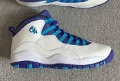 Air Jordan 10 Women AAA White Purple Blue