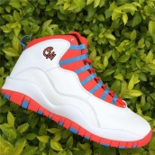 Super Perfect Air Jordan 10 Chicago Flag White Red Blue