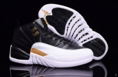 Air Jordan 12 Wings Black White Golden