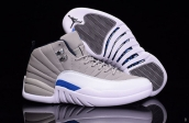 Air Jordan 12 Grey White Blue Silvery