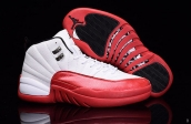 Air Jordan 12 White Red Silvery