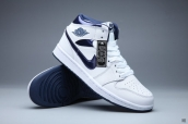 AAA Air Jordan 1 Women White Blue