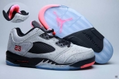 Air Jordan 5 Low AAA Grey Black Pink
