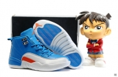 Air Jordan 12 Kids Blue White Red