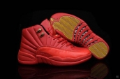 Air Jordan 12 Red Golden