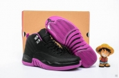 Air Jordan 12 Women Black Purple