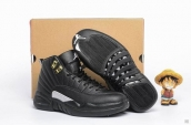 Air Jordan 12 Women Black Golden White