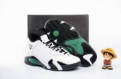 Perfect Air Jordan 14 White Black Green 190