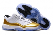 Air Jordan 11 Women Low White Golden