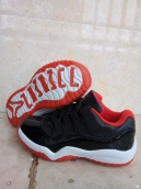 Air Jordan 11 Kids Low Black Red