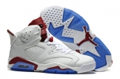 Air Jordan 6 White Red Blue