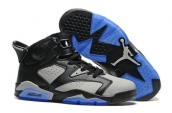 Air Jordan 6 Black Grey Blue