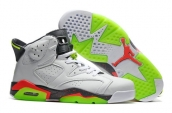 Air Jordan 6 White Fluorescent Green Red