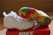 Air Foamposite One Women White Colors of the rainbow
