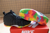 Air Foamposite One Women Black Colors of the rainbow