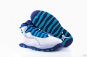 Air Jordan 10 AAA White Purple Blue