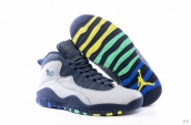 Air Jordan 10 AAA White Navy Blue Yellow Green