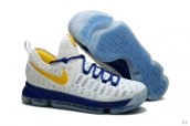 Nike Zoom KD 9 Low Warrior White Blue Yellow