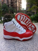 Air Jordan 11 Kids High White Red